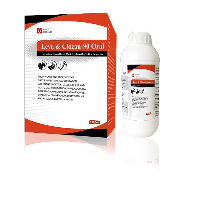 Levamisole Hydrochloride 3% & Oxyclozanide 6% Oral Suspension